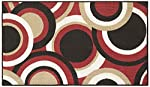 Modern Living Circles Decorative Area Accent Rug