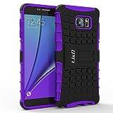 Galaxy Note 5 Case, J&D [Armor Protection] Samsung Galaxy Note 5 [Heavy Duty] [Triple Layer] Hybrid Shock Proof Fully Protective Case for Samsung Galaxy Note 5 (Kickstand Purple)