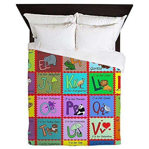 (CafePress Alphabet Soup Creations Queen Duvet Cover, Printed Comforter Cover, Unique Bedding, Microfiber )
