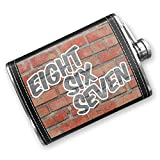 8oz Flask Stitched 867 Old Crow, YT brick Stainless Steel - Neonblond