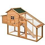 75'' Deluxe Wooden Chicken Coop Backyard Nest Box Hen House Rabbit Wood Hutch