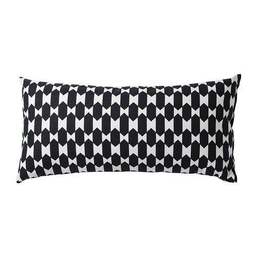 IKEA NAVVIVA - Almohada, negro / blanco - 30x60 cm: Amazon ...