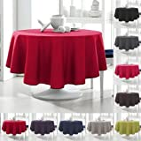 Today 256311 Nappe Ronde Polyester Pomme d'amour/Rouge 180 x 180 cm