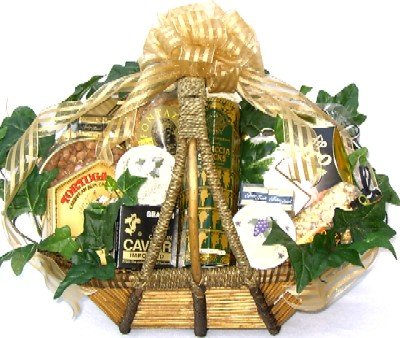 Gourmet Delicacies Gift Basket | Caviar, Cheese Spreads, Crackers, Premium Nuts and More by Gifts to Impress