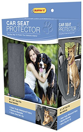 RUFFIN' IT Car Seat Protector for Pets, Grey ()