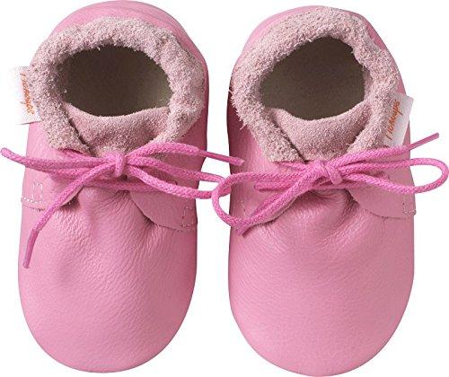 Tichoups chaussures bébé cuir souple tilou roses