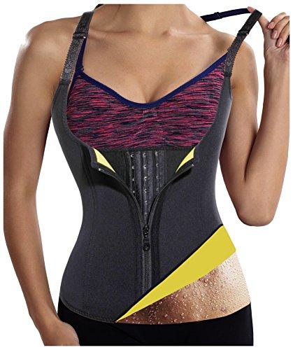 Gotoly Womens Hot Sweat Body Shaper Sauna Tank Top Tummy Fat Burner Slimming (Black, XL:US 14-16)