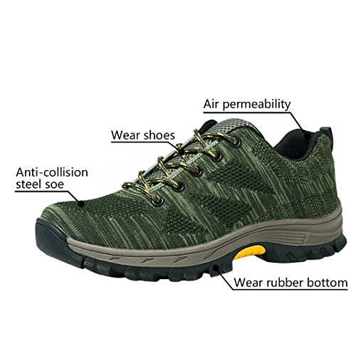 Work Shoes Shoes Steel Navy Shoes Optimal Safety Green Men's Toe t4wOqO