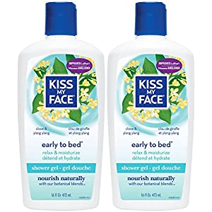 Kiss My Face Shower Gel, Early To Bed - Chamomile, Ylang Ylang & Olive Oil - 16 oz - 2 pk