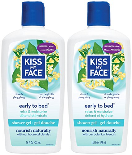 Kiss My Face Shower Gel, Early To Bed - Chamomile, Ylang Yla