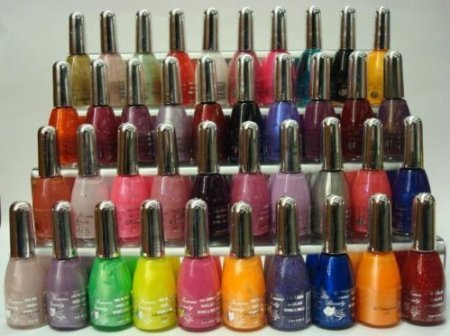 Nail Polish Set of 40 Asst Shades Glitters, Neons .....15ml each.. by Faith ()