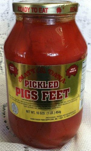 Matt & Dana Pickled Pigs Feet in a Quart Jar