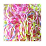 900 Stripey Design Friendship Loom Bands With 36 S Clasp and 3 Hooks [Toy]