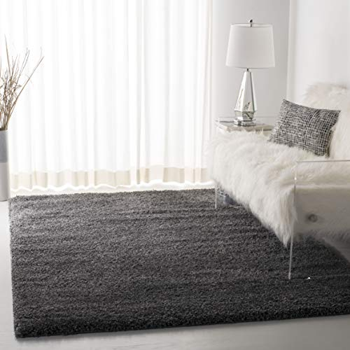Safavieh California Premium Shag Collection SG151-8484 Dark Grey Area Rug (8'6