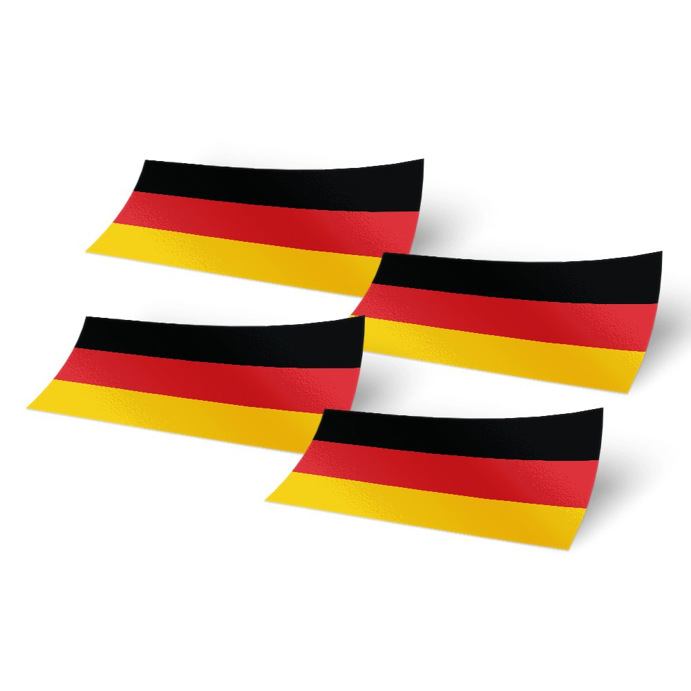 Desert Cactus Germany 4 Pack of 4 Inch Wide Country Flag Stickers Decal for Window Laptop Computer Vinyl Car Bumper German 4