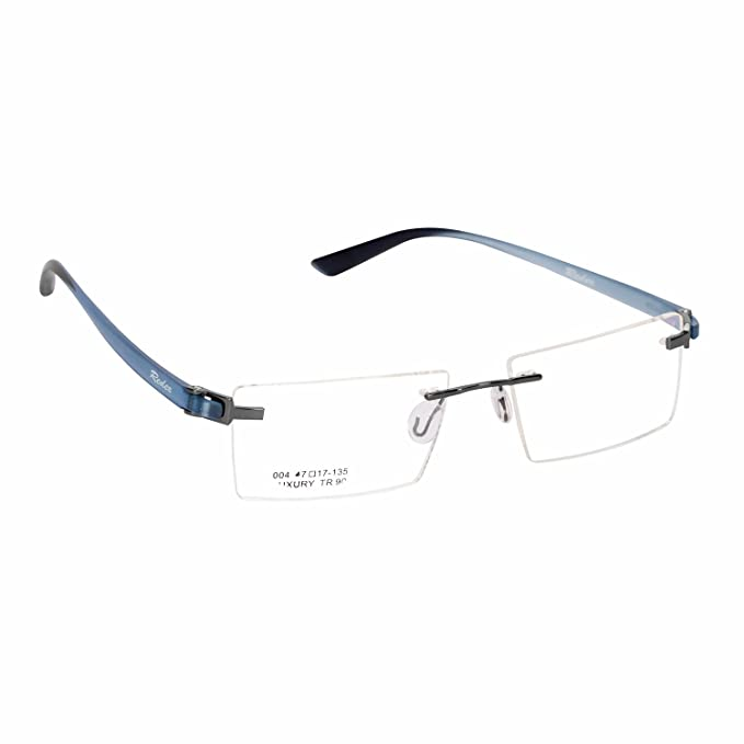 3b87a301352 Redex Rimless Rectangle Unisex Eyewear Spectacle Eye Frame Reading  Eyeglasses for Women Mens Boys Girls Clear Branded Discount (551)   Amazon.in  Clothing   ...
