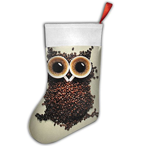 Santa Stocking Coffee Owl Christmas Stockings Personalized