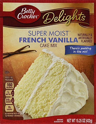 Betty Crocker Delights Super Moist French Vanilla Cake Mix - 15.25 oz (Pack of 2) (Vanilla Cake)