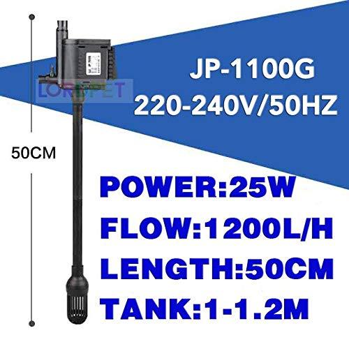 220V Sunsun 3 in 1 Aquarium Fish Tank 1800L H Submersible Pump + Filter + Oxygen Miniature Pump   JP-1100G, Plug Adapter