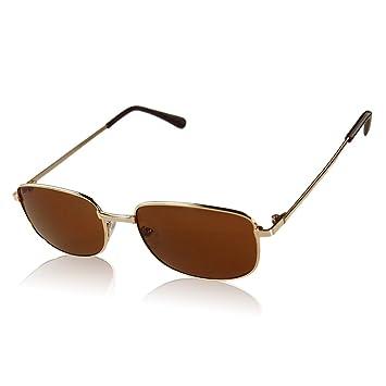 LUFA Unisex Metal Frame UV400 lunettes de soleil en plein air Lunettes GoldFrame & BrownLens 8pXwYaT