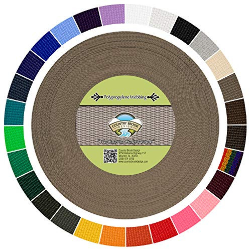 Country Brook Design | Polypropylene Webbing (1 Inch) (Beige, 25 Yards)