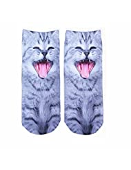 GOOTRADES Women Casual Low Cut Ankle Socks Cotton 3D Printed Animals