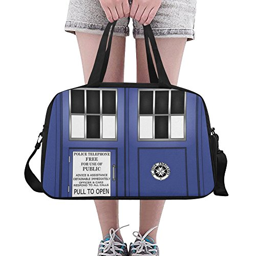 Unique Debora Custom Weekend Travel Bag Unisex Travel Gear Luggage for Magic Tardis Police Box