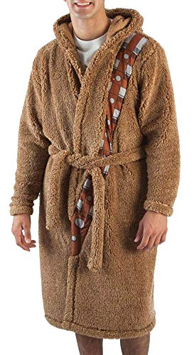 Star Wars Mens' Chewbacca Costume Robe with Chewy Sound Chip (Small/Medium) Brown -