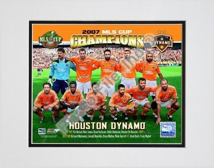 "Houston Dynamo ""2007 MLS Cup Champions"" Double Matted 8"" x 10"" Photograph (Unframed)"