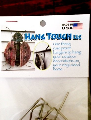 (Hang Tough LLC, Stainless Steel hangers to hang your outdoor decorations on your vinyl sided home. 5 Hangers in a package.)