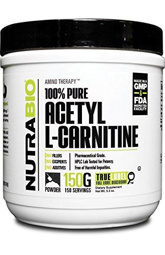 Acetyl L-carnitine Pure Powder (NutraBio 100% Pure Acetyl L-Carnitine Powder - 150)
