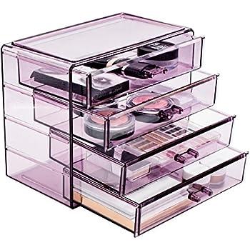 Amazon.com: InterDesign 3-Drawer Plastic Jewelry Box ...