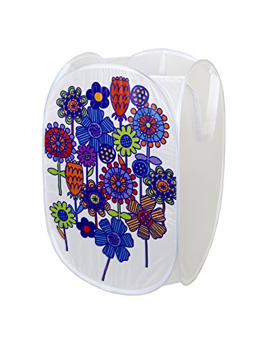 BaL BaL 23 Large Pop Up Laundry Hamper with Durable Handles New Flower Cartoon Design - Collapsible and Foldable