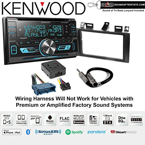 2002 Lanyard - Kenwood DPX503BT CD Receiver Install Kit with Bluetooth Fits 2000-2005 Cadillac Deville, 1996-2004 Seville + Sound of Tri-State Lanyard Bundle