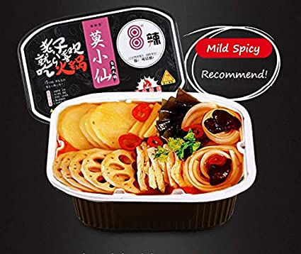 Moxiaoxian Chinese Hotpot self Heating Cooking Box Local Tasty Asian Snacks Instant hot Pot Noodle Not Spicy Box- New