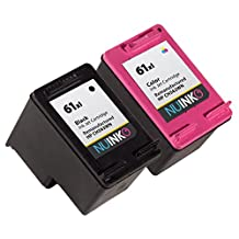 NUINKO 2 Pack Remanufactured HP 61XL Ink Cartridge Black and Color CH563WN CH564WN for HP ENVY 4500 5530 4502 Deskjet 2050 3050 2540 1050 1510 1000 1010 3050A 2542 2544 OfficeJet 4630 2620 Printers