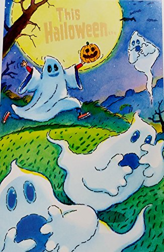 This Halloween - Have a Screaming Good Time! Greeting Card w/ Ghosts