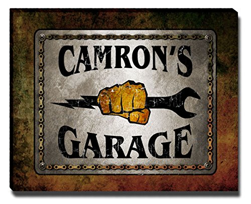 ZuWEE Camron's Garage Family Name Gallery Wrapped Canvas Print