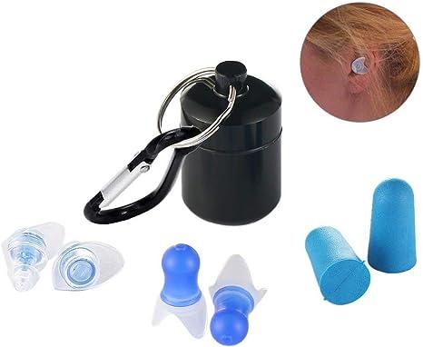 Un paio Tappi per orecchie in silicone Riduzione rumore orecchie antirumore LQ