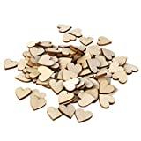 Plain Wooden Heart Embellishments for Crafts 30mm Pack of Approx.50pcs