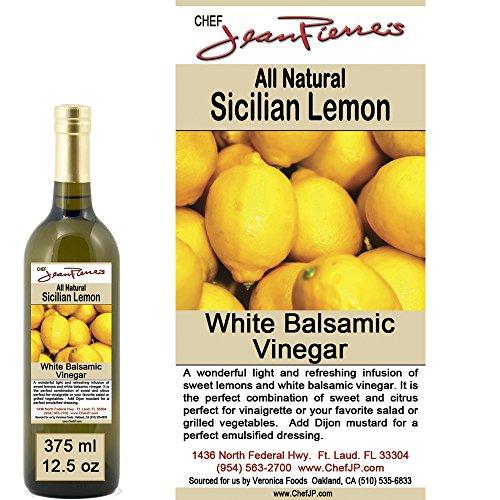 "Traditional Barrel aged 12 years ""Sicilian Lemon White Balsamic"" 100% ALL NATURAL Vinegar 375ml (Organic Sicilian Lemons)"