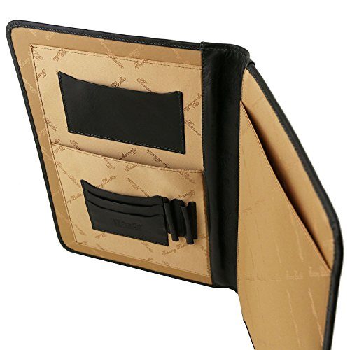 Tuscany Leather - Adriano - Portadocumentos en piel con cierre con botón Rojo - TL141275/4 Marrón oscuro