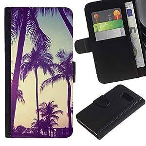 All Phone Most Case / Oferta Especial Cáscara Funda de cuero Monedero Cubierta de proteccion Caso / Wallet Case for Samsung Galaxy S6 // Vintage Vignette Summer