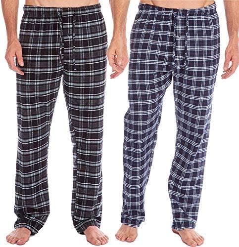 in Misto Cotone Confezione da 2 Insignia Pantaloni da Uomo a Scacchi