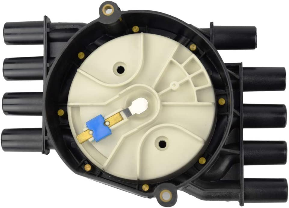 AGAIN Ignition Distributor Cap and Rotor Kit Compatible with V8 5.0L 5.7L Isuzu NPR-HD//Cadillac Escalade//Chevy Suburban C2500 Express 1500 Tahoe W3500 W4500 Tiltmaster for Rotor DR474 SEEU