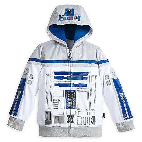 R2d2 Child Costumes (Star Wars R2-D2 Costume Hoodie for Boys - Star Wars Size 5/6 White)