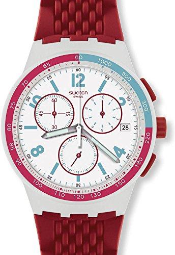 [スウォッチ]swatch [スウォッチ]SWATCH NEW CHRONO PLASTIC(ニュー クロノ プラスチック)RED TRACK(レッド トラック)メンズ SUSM403 メンズ