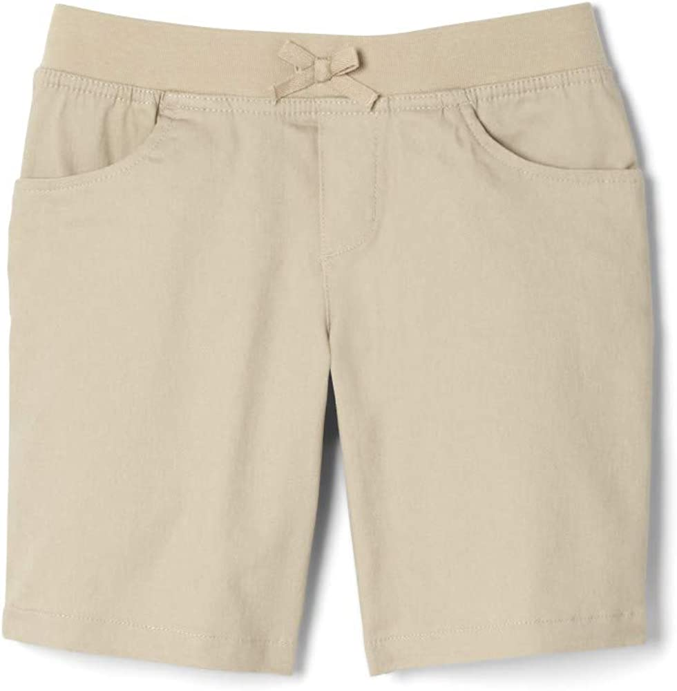 French Toast Girls' Stretch Pull-On Tie Front Short