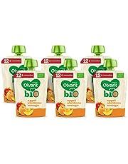 Olvarit BIO Appel, Abrikoos, Mango 12+ maanden - knijpzakjes 6x 90 gram