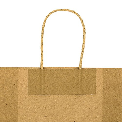 Bagmad Thicker Paper 50 Count 10x5x13, Large Kraft Paper Shopping Bags with Handles,Gift Natural Party Retail Craft Brown Bags,50PCS by Bagmad (Image #5)'